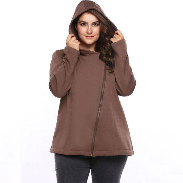 Zip it up Fleece Hoodie-Laura Sonia