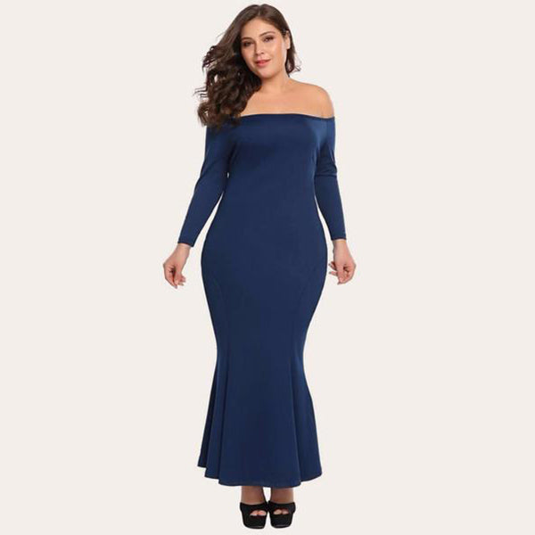 Bodycon Maxi Off Shoulder Dress-Laura Sonia