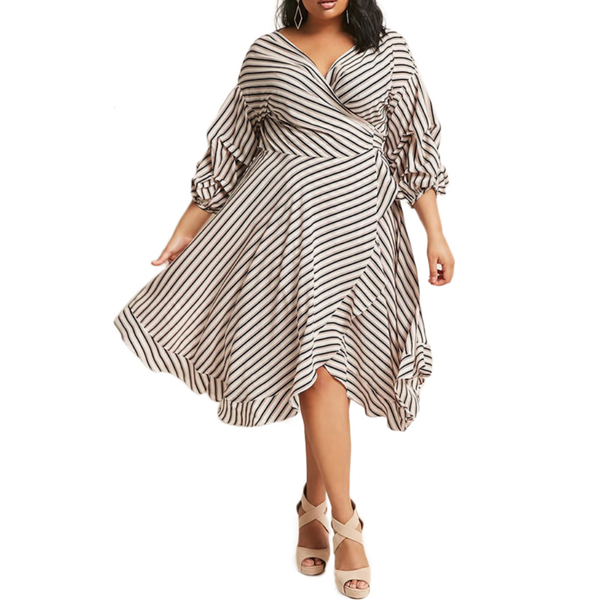 Lantern Sleeve Dress-Laura Sonia