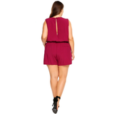 Knee length Backless Elastic Romper-Laura Sonia