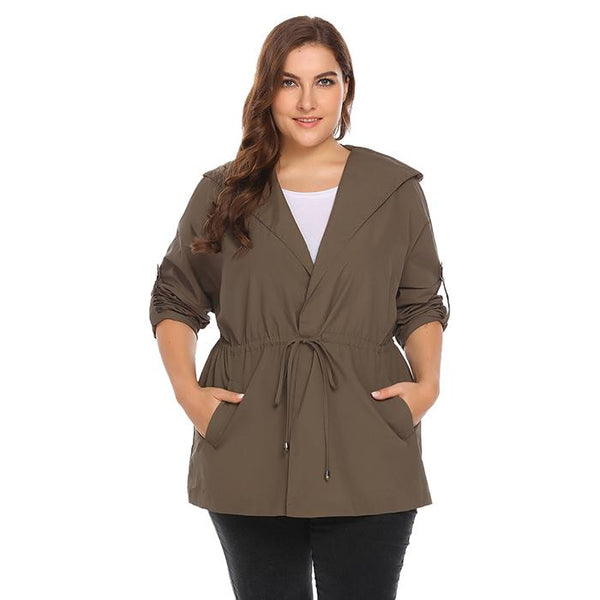 Hooded Waterproof Raincoat-Laura Sonia