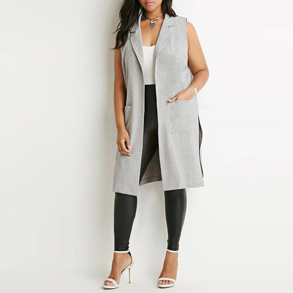Split Notched Gilet-Laura Sonia