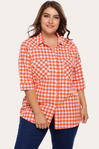 Boyfriend Plaid Shirt-Laura Sonia