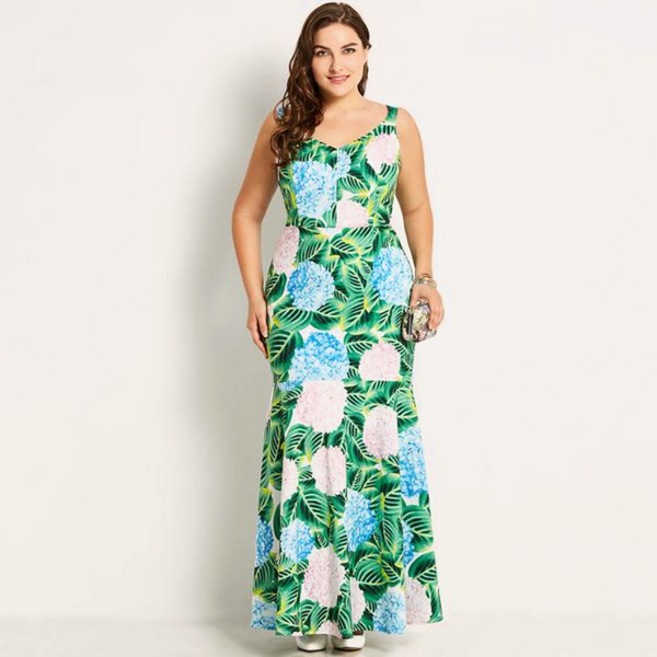 Tropical Sleeveless Maxi Delight-Laura Sonia