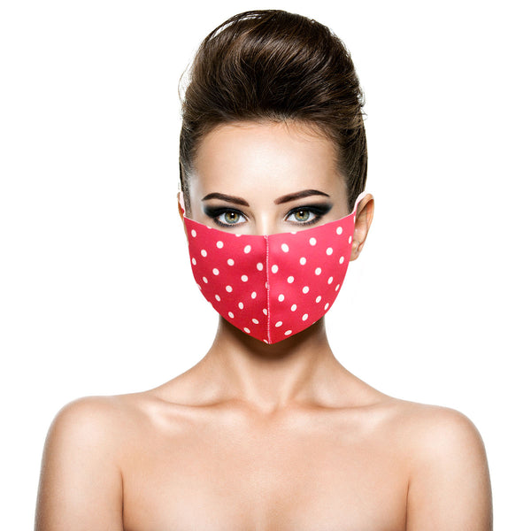 Pink Polka Dot Face Reusable Masks