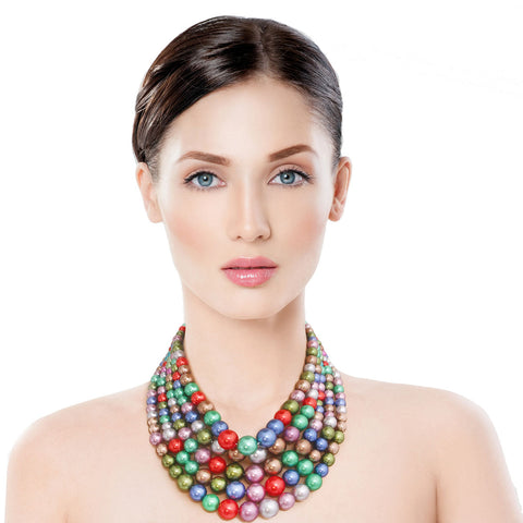 Dark Multi Color Pearl 5 Strend Set