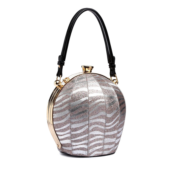 Zebra Leather Ball Bag