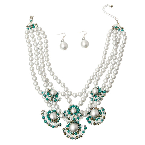 Pearl and Bead Necklace Set