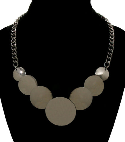 Round Black Charm Necklace
