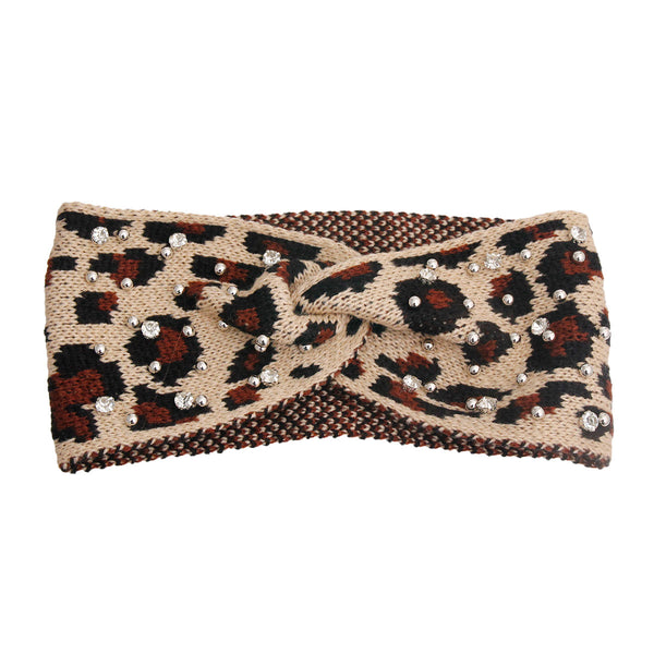 Light Leopard Stud Headband