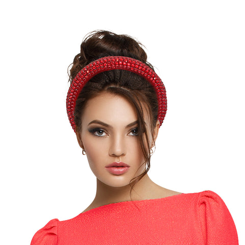 Red Crystal Padded Headband