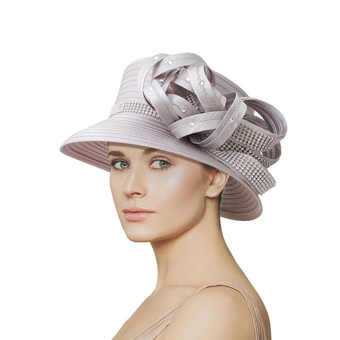 Gray Braided Knot Church Hat