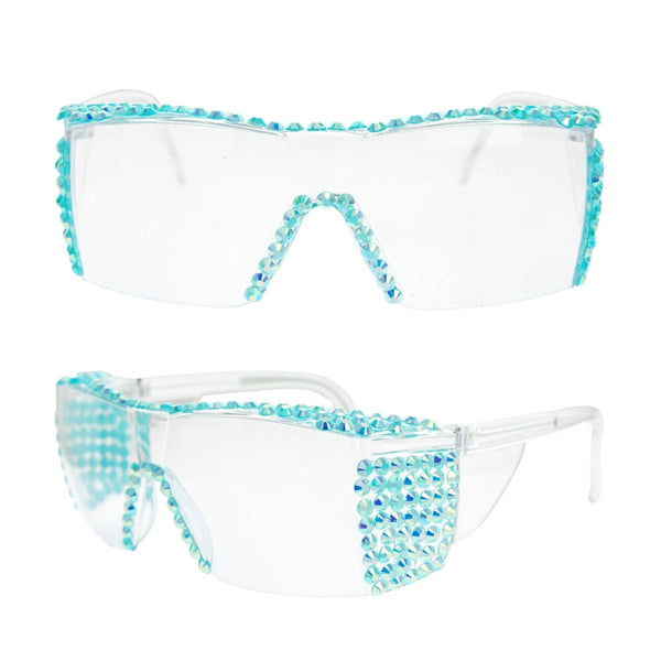 Turquoise Safety Goggles and Pouch