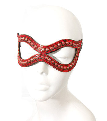 Red Crystal Studded Mask