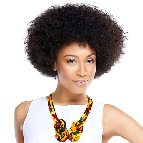 Multi Color Afrocentric Knotted Necklace