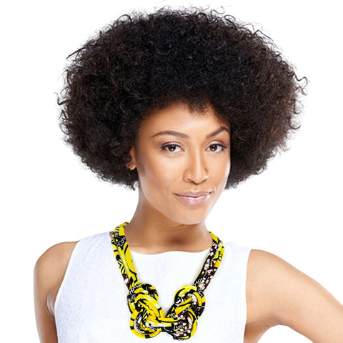 Yellow Afrocentric Knotted Necklace