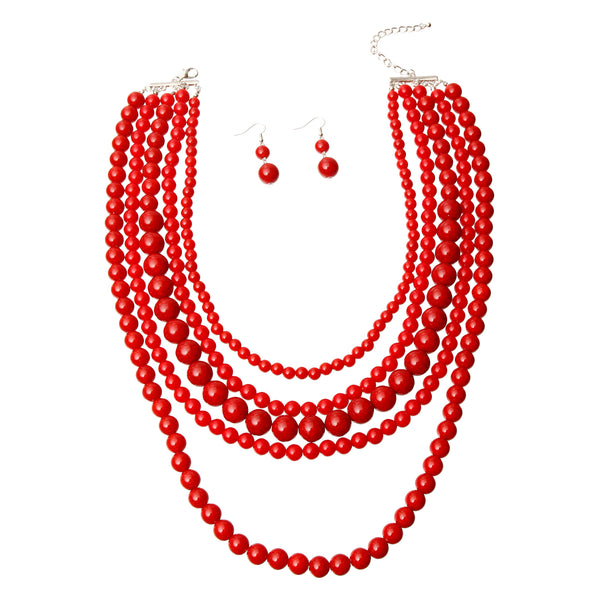 Cracked Bead Necklace Set