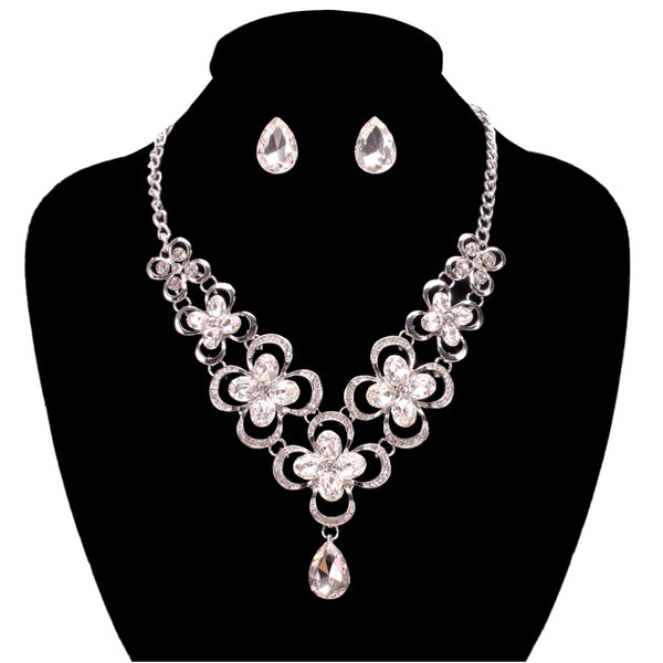 Crystal and Rhinestone Necklace Set