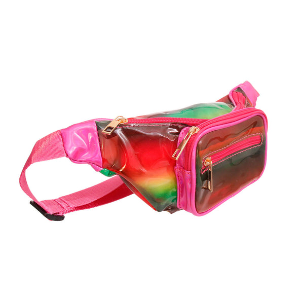 Rainbow Clear Fanny Pack