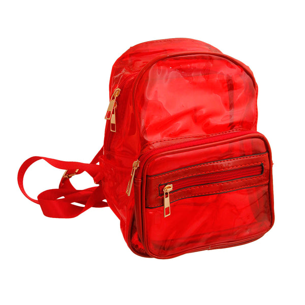 Red Transparent Backpack