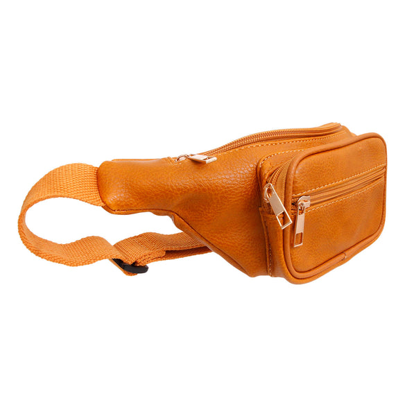 Mustard Leather Fanny Pack