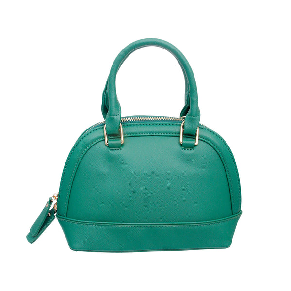 Green Leather Dome Bag