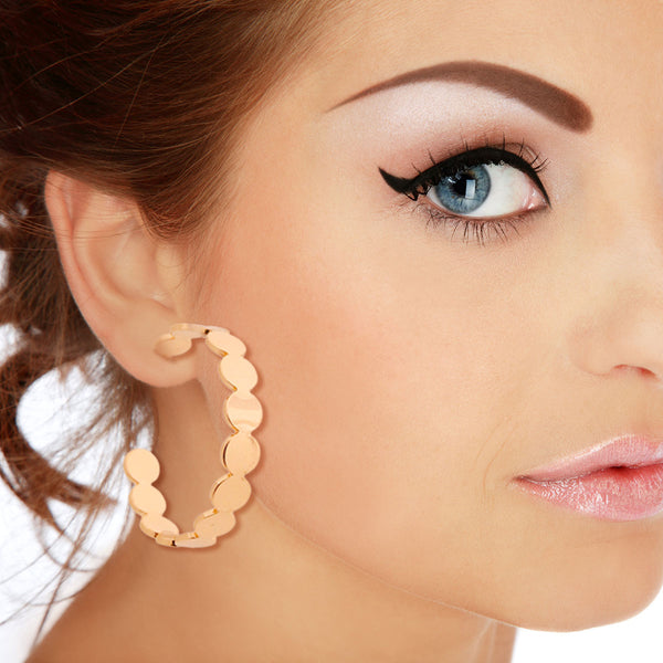 Gold Metal Circle Hoops