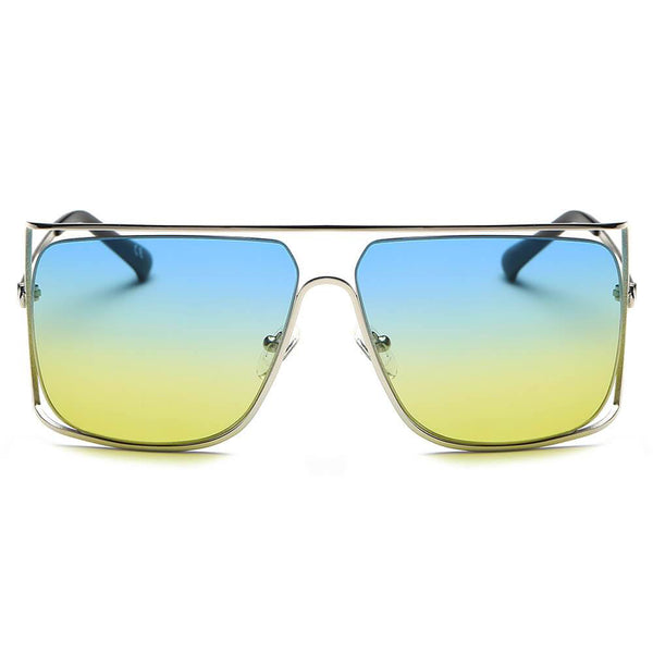 Yellow and Blue Square Frame Shades