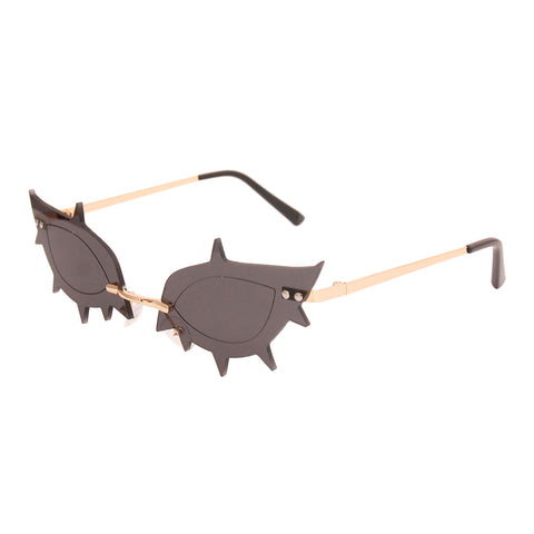 Black Rimless Spike Sunglasses