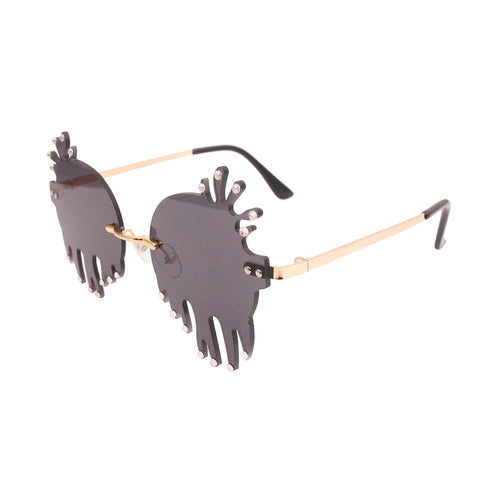 Black Rimless Squid Sunglasses