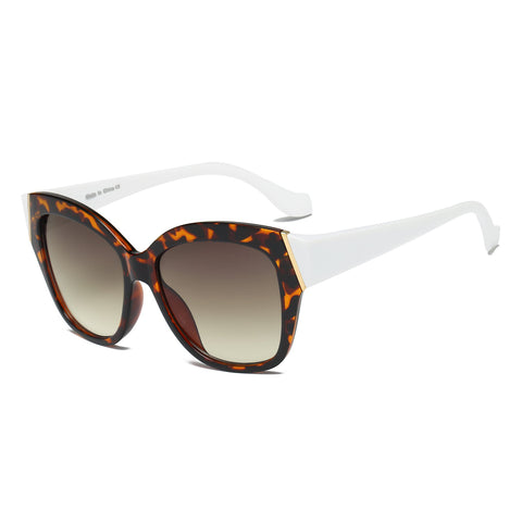 Tortoiseshell and White Cat Eye Glasses