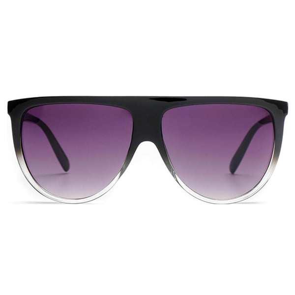 Purple Tint Rounded Bottom Glasses
