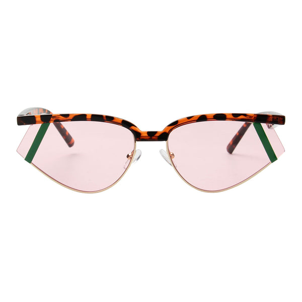 Pink Futuristic Rectangle Glasses