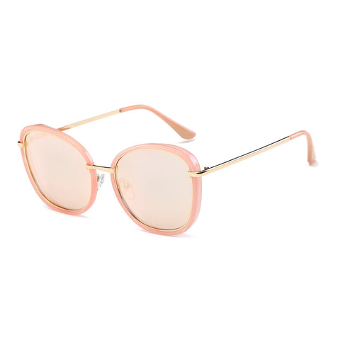 Pink Frame Round Cat Eye Sunglasses