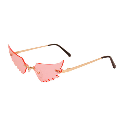 Pink Wings in Flight Sunglasses