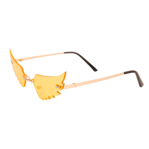 Yellow Wings in Flight Sunglasses