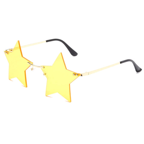 Yellow Superstar Rimless Sunglasses