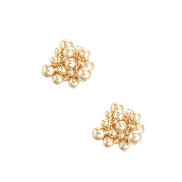 Gold Metal Ball Cluster Studs