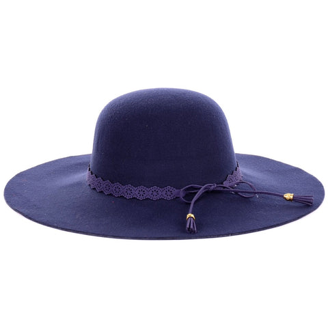 Blue Winter Fedora