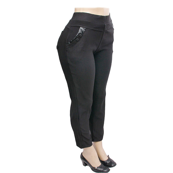 Plus Size 3XL Button Pocket Leggings