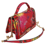 Red Graffiti Quilted Chain Crossbody