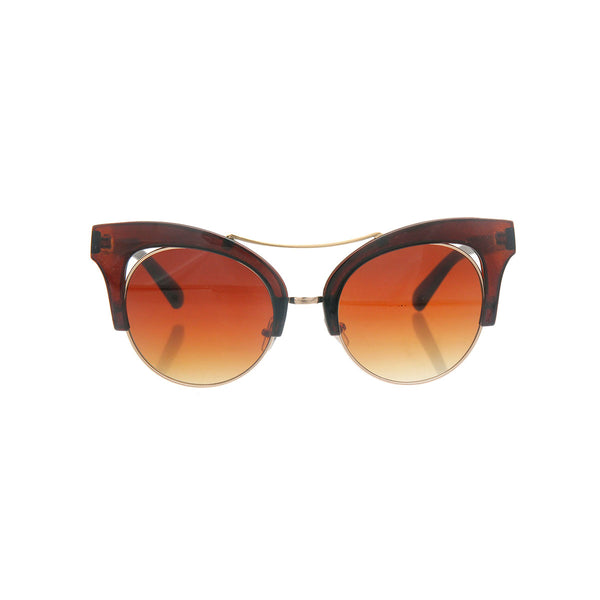 Brown Cut Out Cat Eye Sunglasses