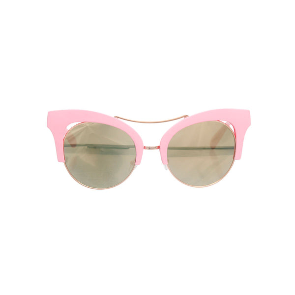 Pink Cut Out Cat Eye Sunglasses