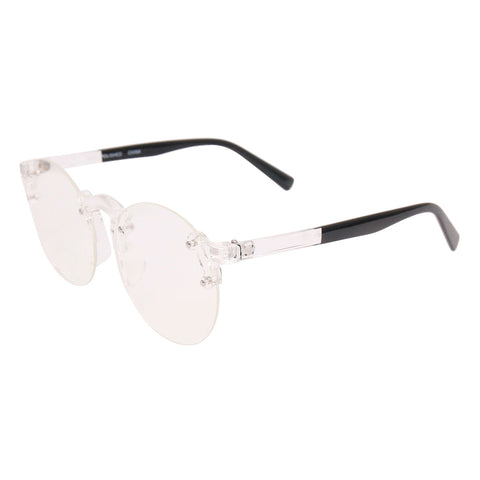 Black Transparent Rimless Glasses
