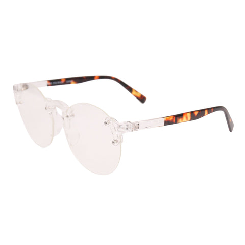Tortoiseshell Transparent Rimless Glasses