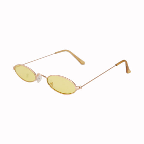 Yellow Retro Oval Sunglasses