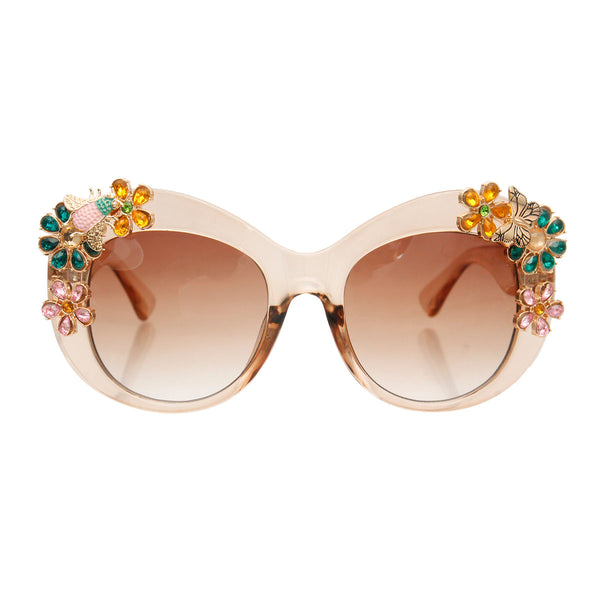 Gucci Bee Butterfly Brown Sunglasses