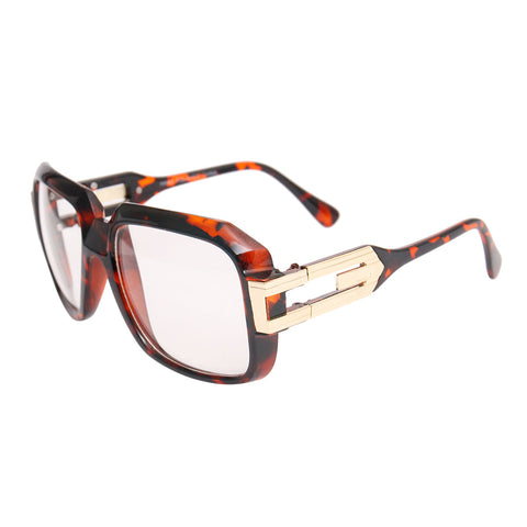 Square Clear Tortoiseshell Retro Glasses