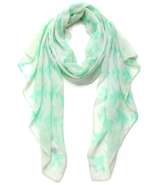 Sea Printed Lightweight Scarf