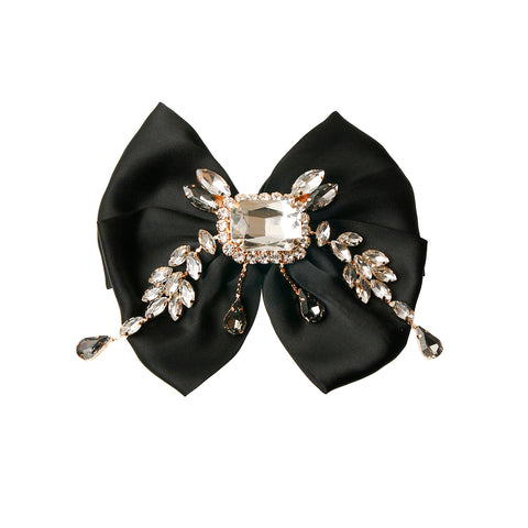 Crystal and Rhinestone Bowtie Brooch